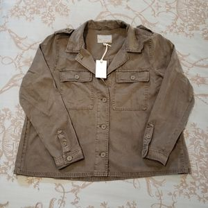 Lucky Brand Green Military Jacket/Shirt size large